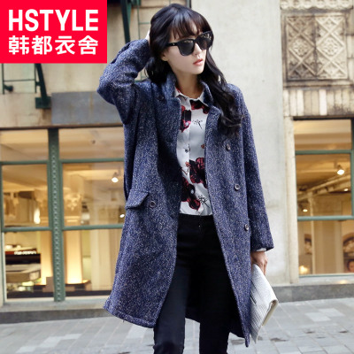 Lynx exclusive debut of Korean homes have clothes Korean version of the 2014 winter new female woolen coat LZ3282 Yin