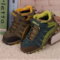 狄猛童鞋2015秋冬保暖大棉鞋男童户外登山鞋儿童防水防臭运动鞋