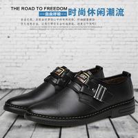 正品牌低帮男士休闲棉皮鞋加绒保暖男棉鞋青中年秋冬季特价爸爸鞋