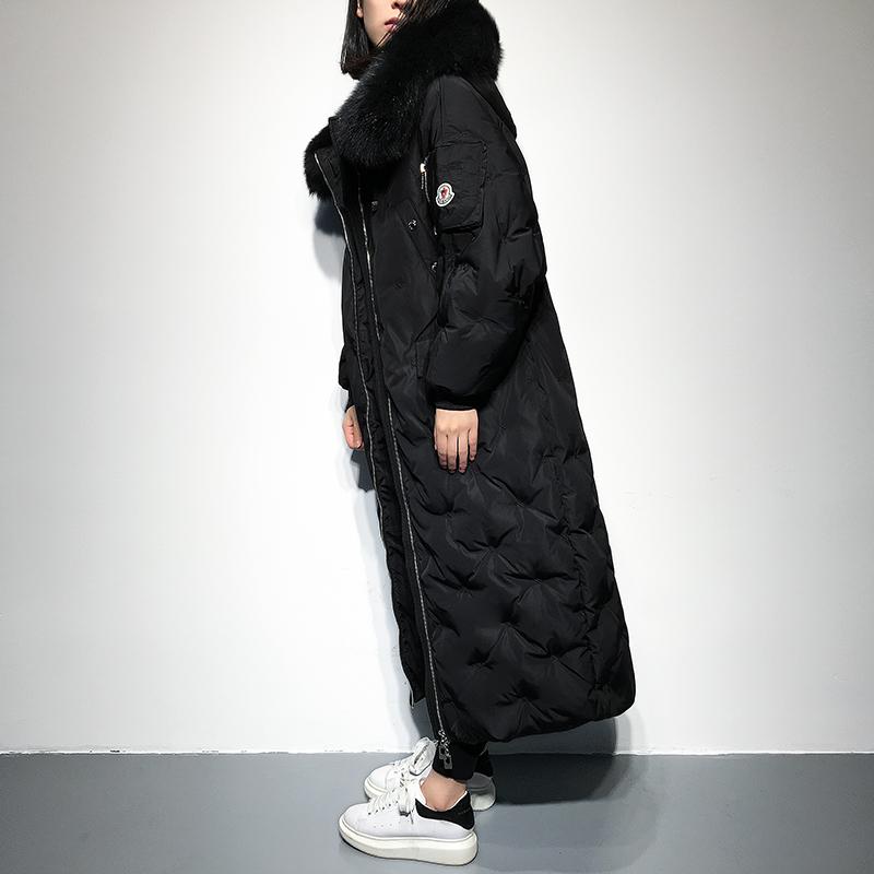 羽绒服女长款2016冬装韩版连帽大毛领宽松休闲加厚过膝韩国外套潮