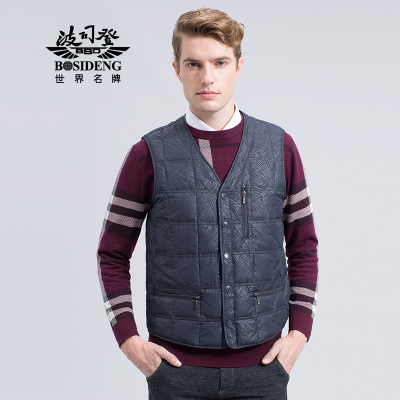 Bosideng Down genuine male Shiboshideng in senile thick shirt vest down vest B1401601