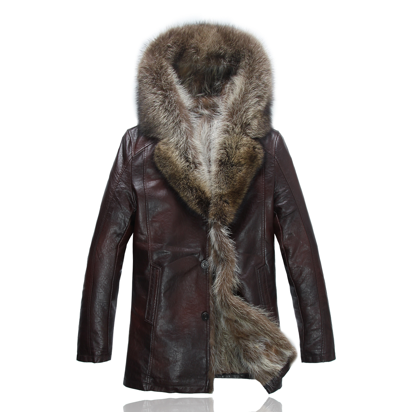 衣男中年修身羊毛呢大衣男休闲羊绒呢子大码外