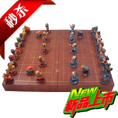 Special creative cartoon characters Q version of the Three Kingdoms three-dimensional chess Chinese chess children's educational toys