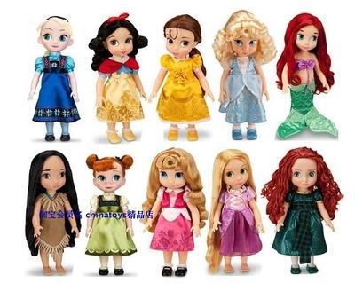 包邮迪士尼正品白雪公主长发沙龙娃娃冰雪奇缘艾尔莎Elsa安娜Anna