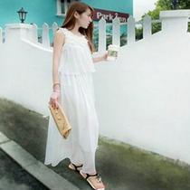 女装夏季亲款海边度假波西米亚大摆甜美飘逸沙滩裙柔美雪纺连衣裙