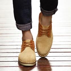 爆款秋季真皮工装鞋男低帮圆头大头鞋男鞋低帮休闲皮鞋男一件代发