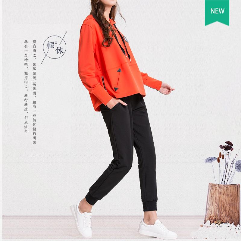 运动套装女春秋运动服两件套2017新款韩版时尚休闲宽松卫衣大码潮