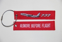 REMOVE BEFORE FLIGHT tags, BOING 737 tags