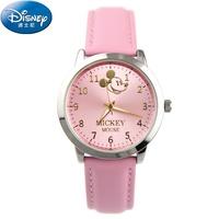 正品新款迪士尼学生休闲手表时尚女孩青春简约大表盘米奇石英腕表