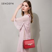 圣蒂梵女包链条小包包新款单肩包夏季时尚牛皮迷你小方包斜挎包包