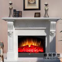 大理石壁炉架 天然石材 欧式壁炉装饰柜 进口大理石 曲阳石雕壁炉