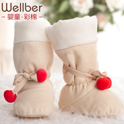 Weier Bei Lu Xinsheng baby booties newborn baby Foot slip cover slip toddler cotton autumn and winter boots
