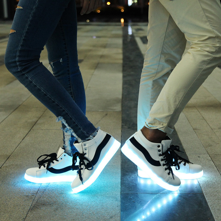 Female LED Lights USB Charging Colorful Shoes