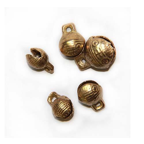 虎头铃铛批发 响铜铃铛开口古法不生锈宠物铃铛项圈项链挂件配件