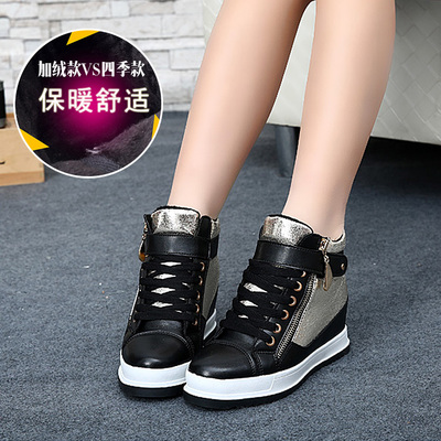 Dragonflies in the thick crust gather enough women increased stealth shoes casual shoes 2014 European leg zipper high tide to help women flat shoes