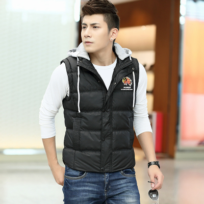 2014 new winter imitation down vest sports vest cotton vest waistcoat Slim tide men's jackets winter