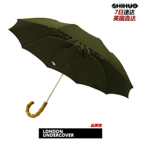 识货正品 LONDON UNDERCOVER WHANGEE FOLDED OLIVE 竹节雨伞