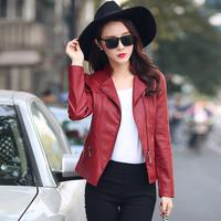 欧洲大牌女式皮衣女短款韩版修身机车pu小款气质小皮衣皮夹克外套