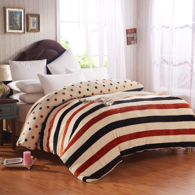 Bo Laini thick coral velvet one-piece quilt quilt single or double warm flannel quilt 1.5 dormitories