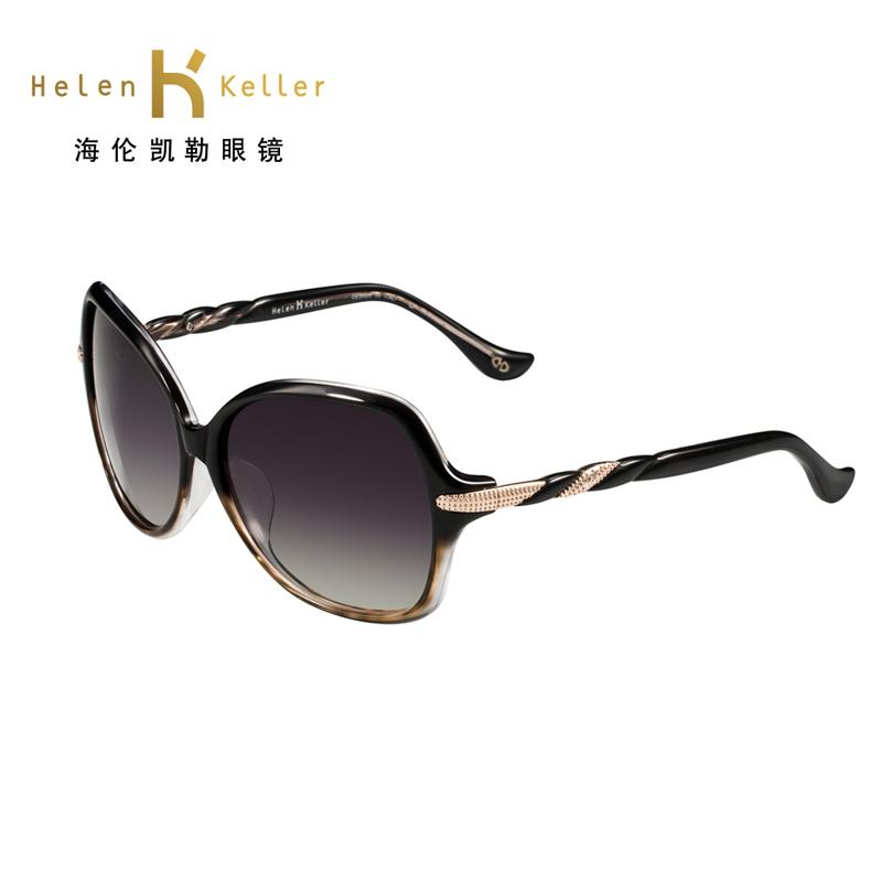 海伦凯勒阳镜女 正品偏光太阳镜 欧美复古简约墨镜H1306