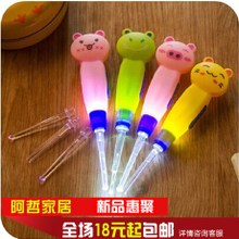 Cartoon animal motifs removable dig earwax spoon clean Luminous scoop out mining ear tools to dig ear ear