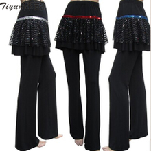 Body rhyme Latin culottes divided skirts The new Latin dance dance clothing culottes belly dance skirts pants pants square