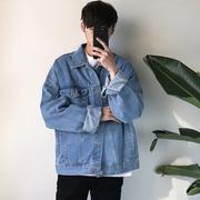 原宿风bf宽松夹克秋季男牛仔外套潮流青少年韩国ulzzang上衣