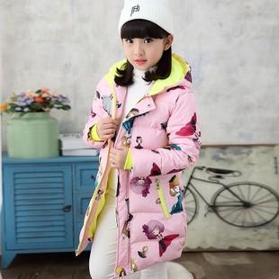 日本购7女童冬装棉衣8儿童冬季5加厚羽绒棉服9大童小女孩10棉袄外