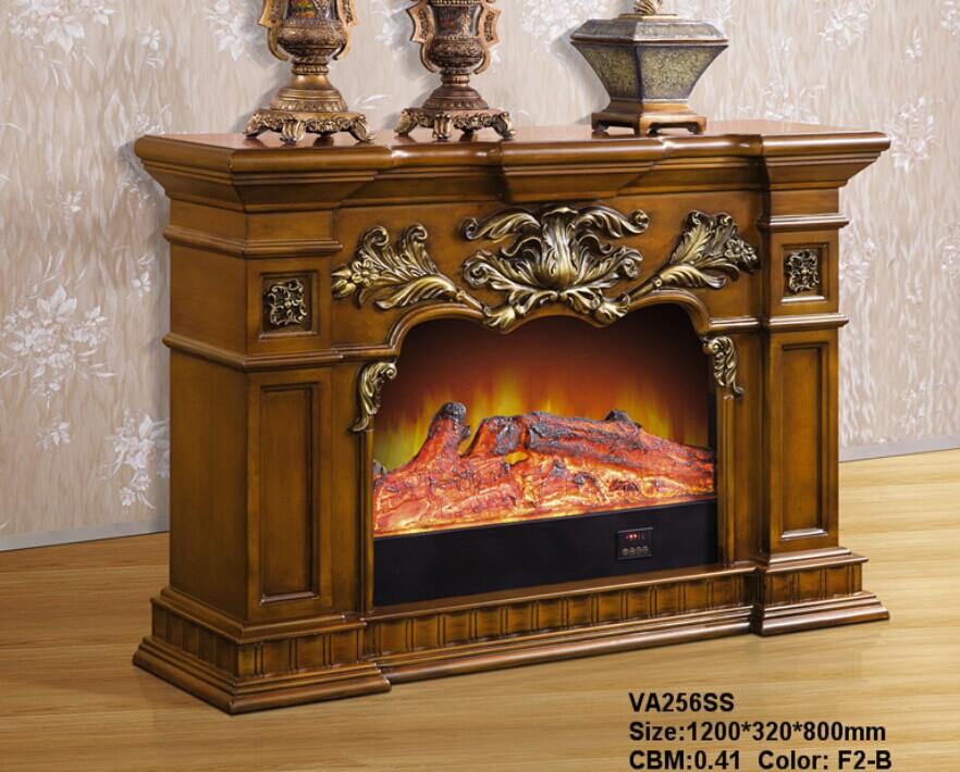 5米1.2米电视柜壁炉电壁炉柜美式欧式实木壁炉架装饰取暖火炉芯图片