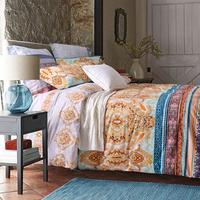 波西米亚风全棉四件套 加厚磨毛床上用品套件 厚实耐用性价比超高