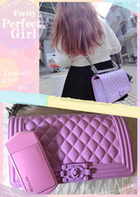 Authentic gigi leung jelly toy boy spoof small sweet jelly bag lady worn one shoulder hand chain bag