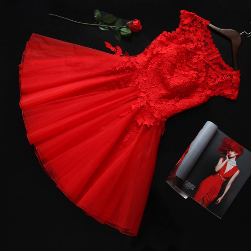 2015新款秋冬季新娘结婚敬酒服花朵双肩时尚短款年会晚礼服显瘦女