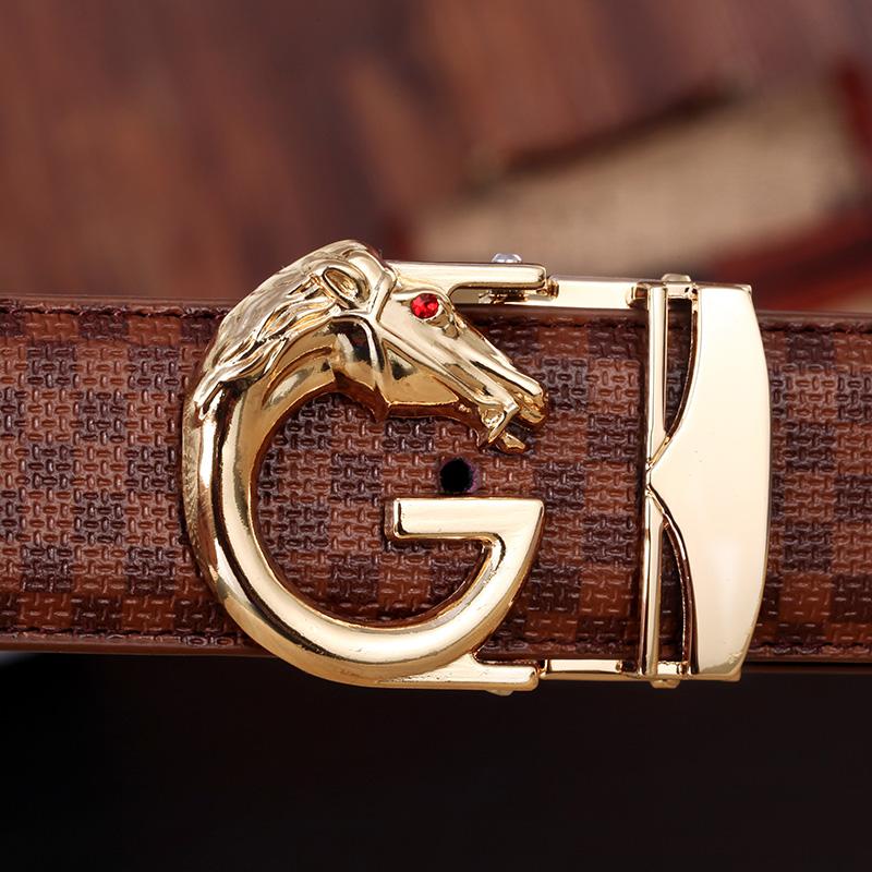 马头g本命年皮带 男士牛皮腰带 简约高档奢华大气皮带图片