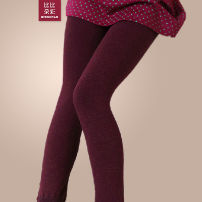 Kids girls new autumn and winter high-waisted leggings thick genuine velvet trousers pants were thin outer one