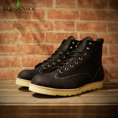 BLESS BOOT X GROVER Lineman boots 秋冬黑色全皮工装靴