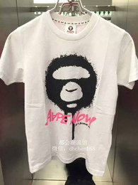 AAPE【澳门代购】A BATHING APE 15夏 女装涂鸦猿人印花短袖T恤