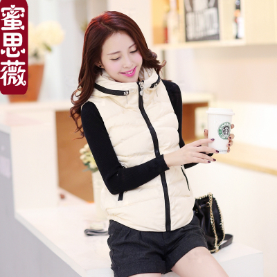 Fall and winter vest female Korean fashion leisure wild thick warm cotton vest vest Slim College wind tide