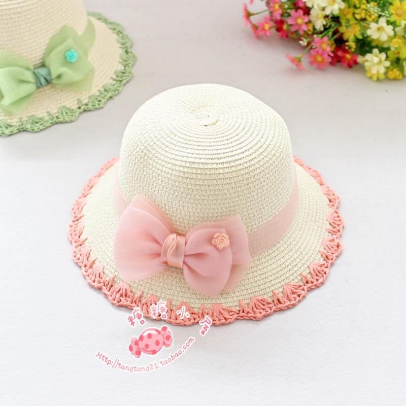 Головной убор Девочек в лето пляж соломенная шляпа солнца шляпа солнца козырек девушка Лян Мао семье в летом соломенная шляпа