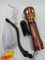 佳格LED铝合金962强光手电露营骑行徒步便携打猎探洞爬山两用包邮