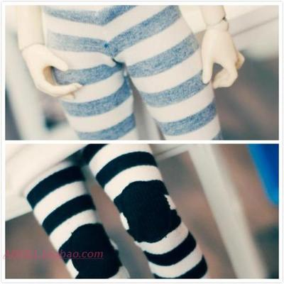 预定 TTYA韩国 正品 (MSD/U-NOA) 娃衣 horizontal line leggings