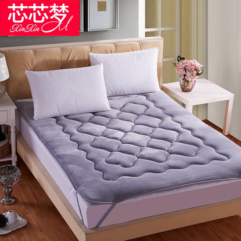 加厚榻榻米床垫珊瑚绒床褥子1.5m单人1.8米双人学生宿舍海绵垫被