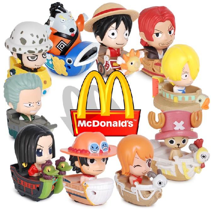 正版2014麦当劳海贼王/航海王/10款海贼船/9款拼图/路飞/艾斯现货