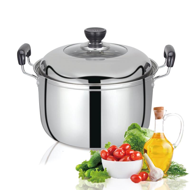 猛龙 汤锅 不锈钢 复底 美式26cm不锈钢汤锅 加厚不锈钢锅