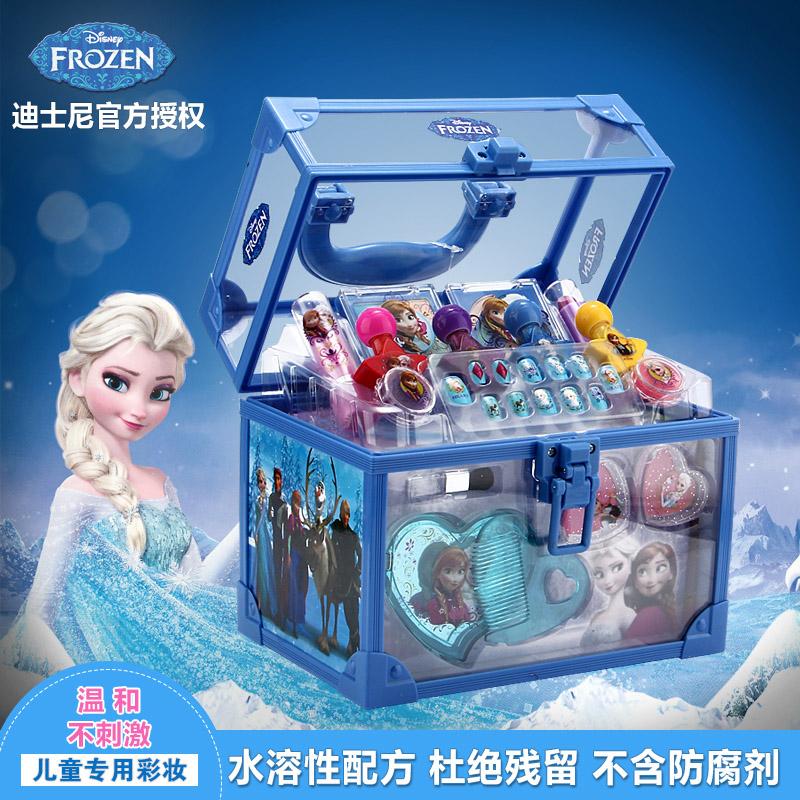 迪士尼公主化妆品盒冰雪奇缘儿童彩妆箱套装 女孩过家家玩具 包邮