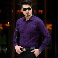 加绒加厚冬季保暖中年男士纯棉衬衫男装新款商务休闲大码长袖衬衣