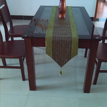 Chinese Japanese silk cloth art/soft adornment in cursive chameleon cloth/table flag bookcase tea table can be customized