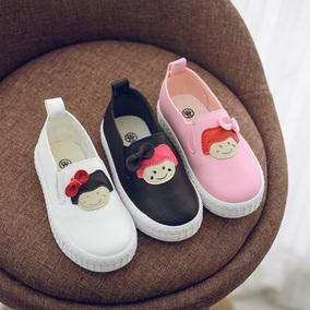 中大童学生女童运动鞋板鞋韩版新款软底儿童单鞋一脚蹬休闲鞋秋冬