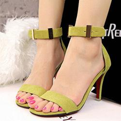 [断码处理] 韩版性感凉鞋脚环绑带高跟鞋露指细跟凉鞋女鞋子 爆款凉拖潮鞋女