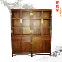 缅甸花梨书柜 书架 储物柜 红木家具 收藏柜 古董柜 博古架