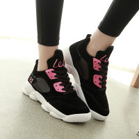 2015秋季新款平底拼色的韩版潮防水时尚运动鞋子厚底女子跑步鞋